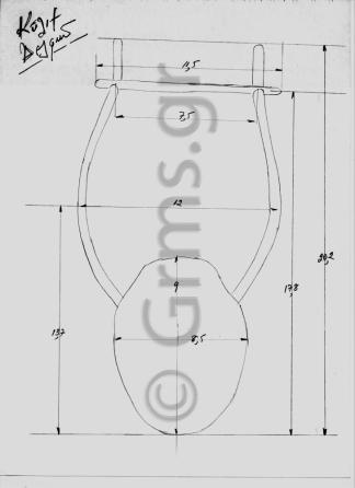 Εικ. 35. Σχέδιο κατασκευής λύρας: μετρήσεις.