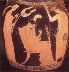 Εικ. 10. London, British Museum Ε 271, 440-30 πΧ. Αυλός, κιθάρα, άρπα, χέλυς.
