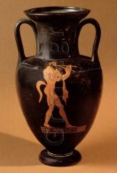 Εικ. 11. Αθήνα, Μουσείο Γουλανδρή Α 001, π. 465 πΧ. Σάτυρος αυλητής.