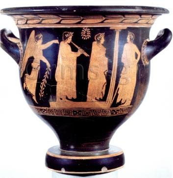 Εικ. 6. Oxford, Ashmolean Museum, π. 430 πΧ. Αγών αυλωδών.