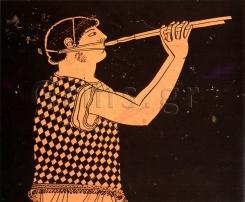 Εικ. 8. London, British Museum Ε 270, π. 480 πΧ. Αγωνιστής αυλητής.