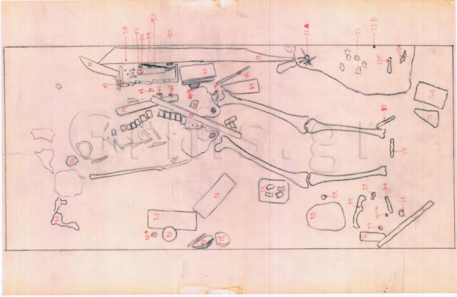 Εικ. 1. Δάφνη, Τάφος ΙΙ: Σχέδιο.