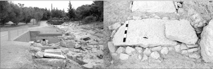 Ο τάφος 22/108 στο νεκροταφείο της αρχαίας οδού Κοίλης. Φωτ. Ανθέμιον 23, σελ. 30: Όλγα Βογιατζόγλου.